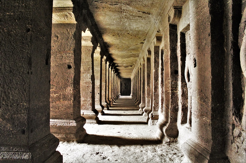 symmetric walls at Ellora Caves Aurangabad