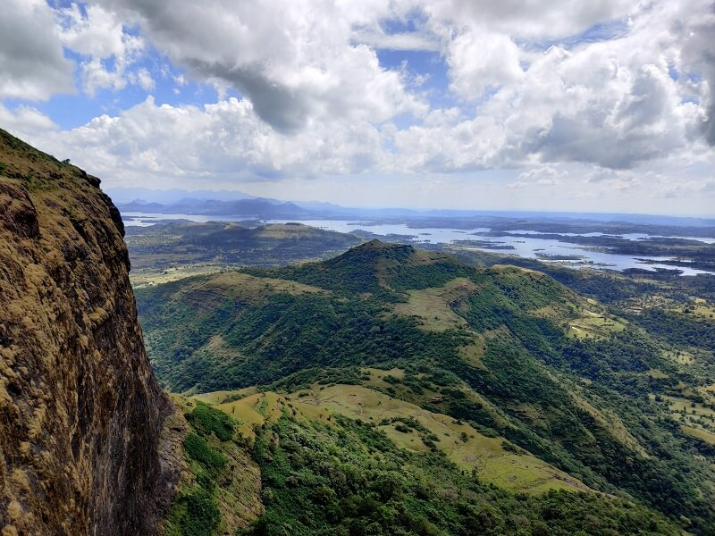 view from Harihar Fort