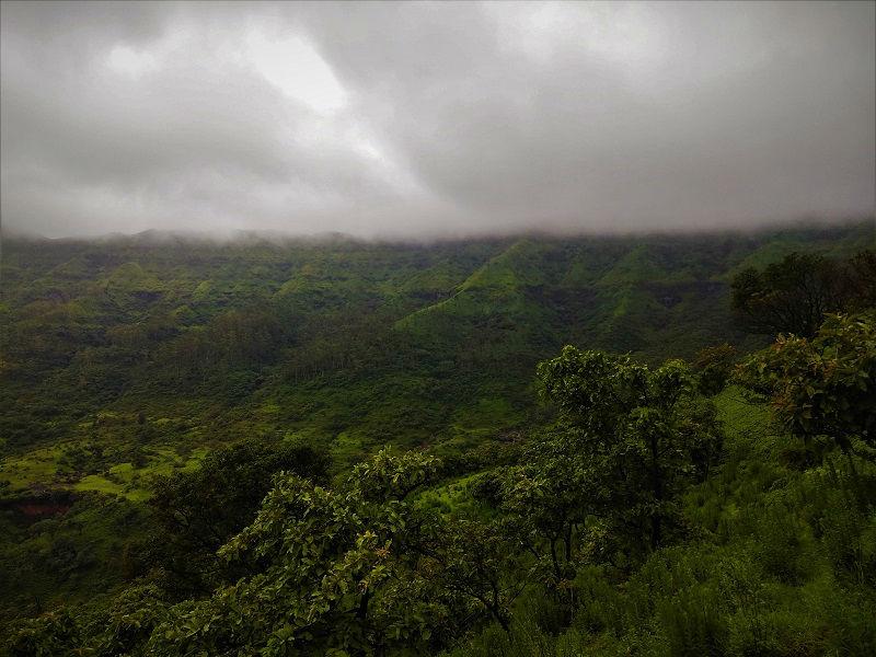 views from Torna Fort Trek
