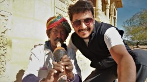 with local of Jaisalmer