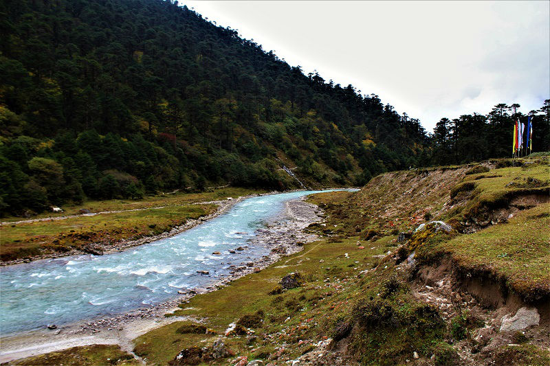 River at yumthang valley Zero point sikkim route